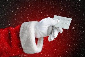 Cyber Monday Concept: Santa Claus Ha