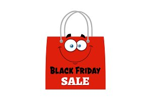 Black Friday Red Shopping Bag