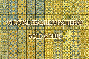 40 royal seamless patterns