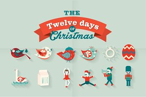 the 12 days of christmas vector