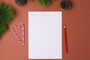 Letter for Santa concept. Christmas