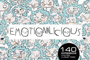 Emotionalicious - 140 faces