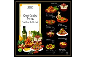Greek cuisine traditional dishes