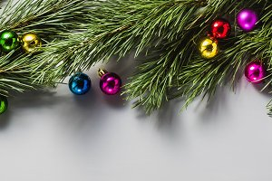 banner of Gray Christmas background