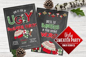 Ugly Sweater Party 5x7 Invite