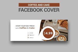 Coffee and Cake Facebook Cover - SK