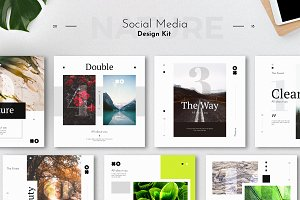 Social Media Design Kit Template