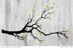 Blank tree branch, vector, eps, svg
