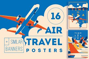 16 AirTravel Illustrations