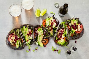 Gluten-free vegan tacos from black b