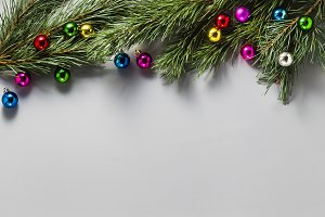 Gray Christmas background from the b