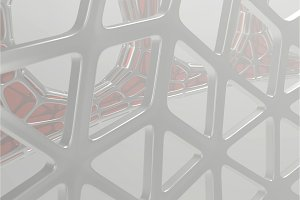 Abstract 3d rendering concept of