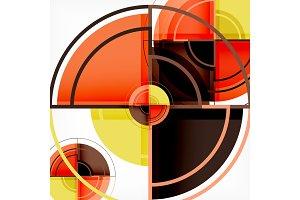 Creative circles geometric abstract