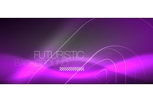 Vector neon color abstract
