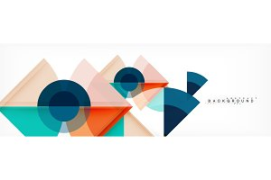 Trendy circles composition geometric