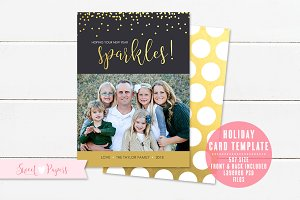 New Year Photo Card Template