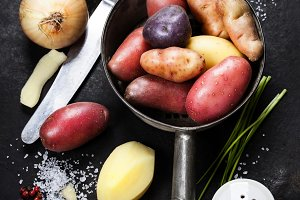 Cooking fresh potatoes