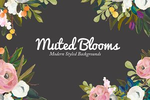 Styled Floral Background Mockup
