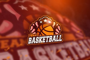 BasketballTeam - Mascot &Esport Logo