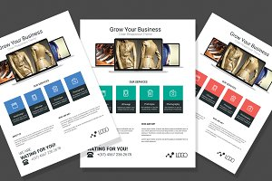 Flat Web Design Flyer
