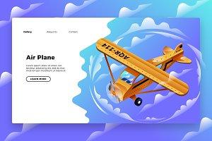 Air plane - Banner & Landing Page