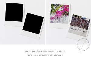Square Polaroid Mockup psd jpg