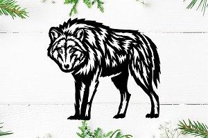 Wolf Logo Templete