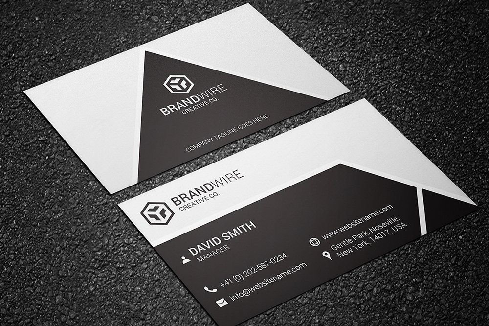 Black White Business Card Templates Creative Market