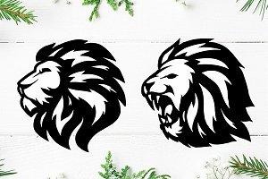 Lion Head Logo Templete