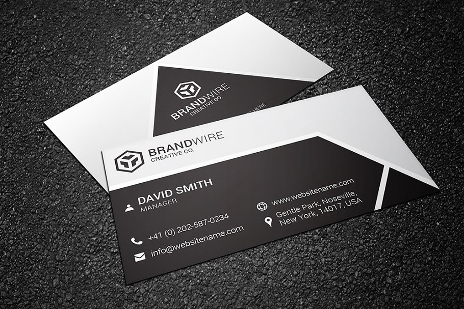 Black & White Business Card - Business Card Templates | Creative ...