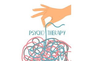 Psychotherapy poster on white