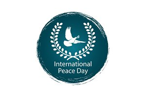 Peace Day logo with pigeon