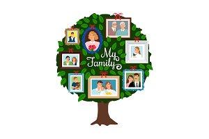 Family green tree
