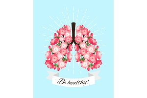 Healthy blooming lungs