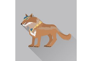 Game Wolf Avatar Icon Isolated on