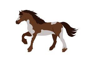 Horse Vector Illustration in Flat