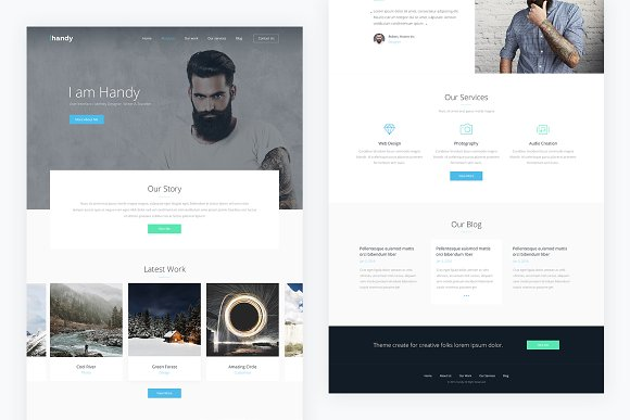 Handy Portfolio Psd Template Website Templates Creative Market