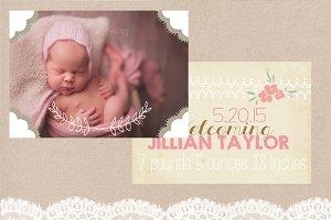 3 Birth Announcement Templates