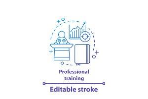 Professional training concept icon