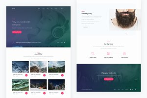 Play — Music PSD Template