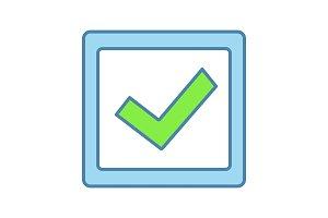 Checkbox color icon