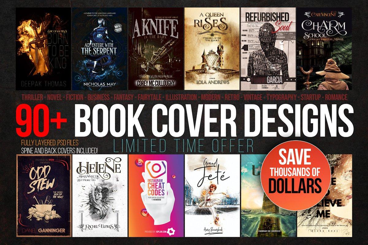 Book Cover Design Kit ~ Templates ~ Creative Market
