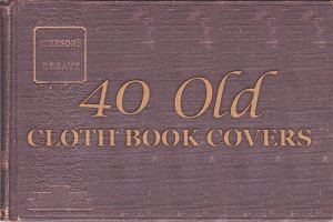 40-Old Cloth Book Covers
