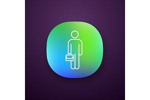 Businessman app icon