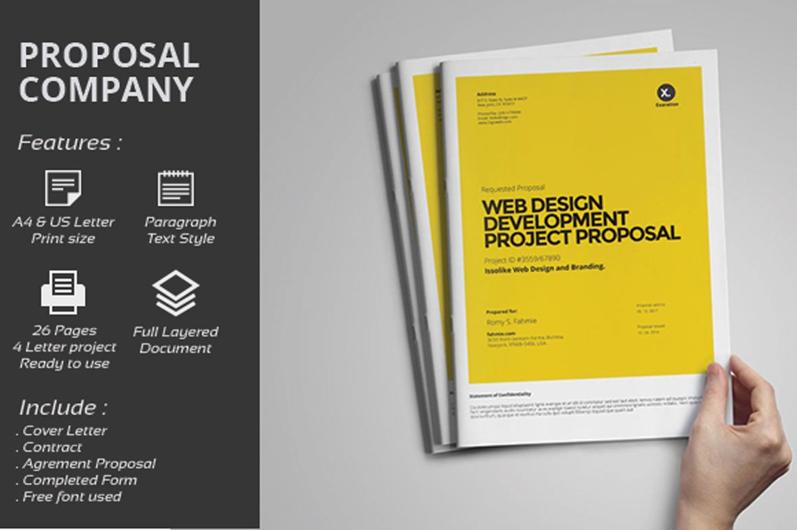 Web design proposal brochure templates on creative market for Web brochure templates