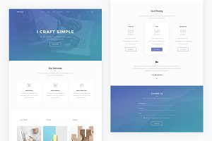 Onepage — Single Page PSD Template