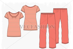 Woman Nightwear Pajama Set
