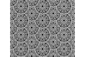 Snowflakes flowers pattern, round