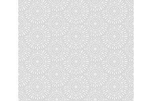 Snowflakes flowers pattern, round