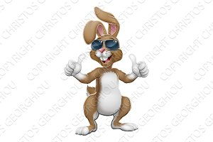 Easter Bunny Cool Rabbit Cartoon